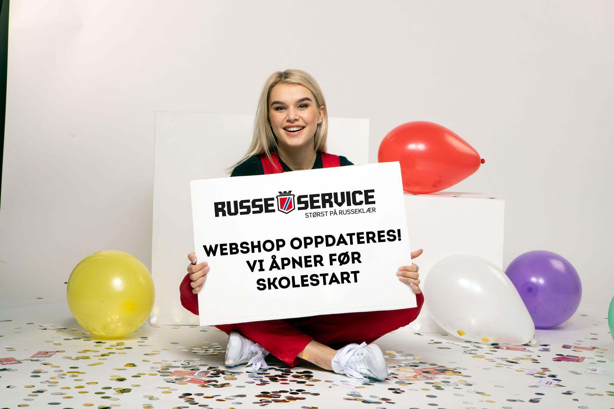 Russeservice. Webshop oppdateres! Vi åpner før skolestart.